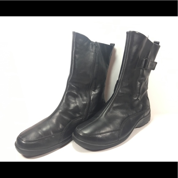 Ecco Babett Black Gore Tex Leather Ankle Boots